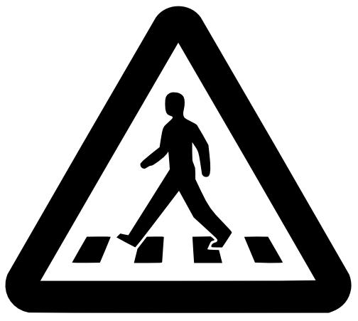 Pedestrian Crossing Sign Dxf File Free Download 3axis Co