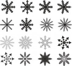 Snowflakes Vector CDR File