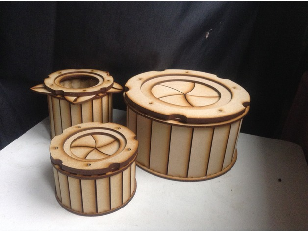 Wood Storage Box With Lid
