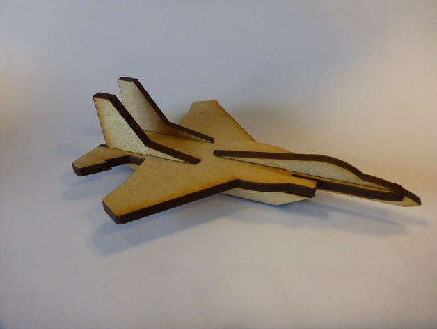 Laser Cut Mini F15 Fighter Aircraft Ascii Dxf File Free