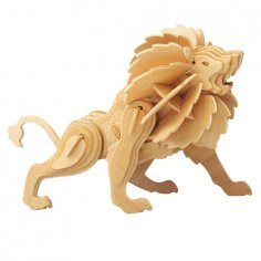 3D Puzzle Lion dxf file
