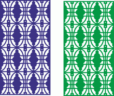 Seamless lace border design partition screen CDR File