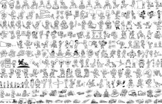 People Graphical Lineart Vector Set CDR File
