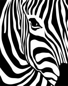 Zebra Print Vector CDR File