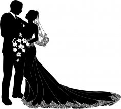 Bride And Groom Vector Art CDR File