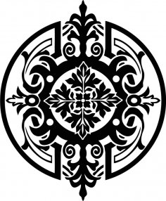Stencil medallion CDR File