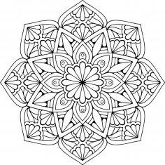 Mandala Floral CDR File
