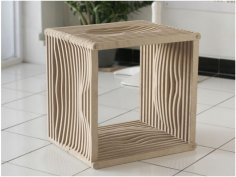 Four Sided Stool R9 dxf File