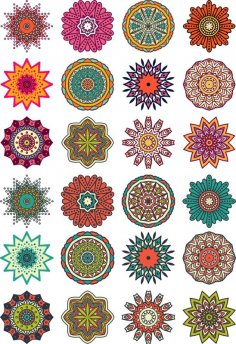 Mandala Flower Motif CDR File