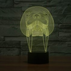 Walrus Animal 3D Lamp Vector Model CDR File