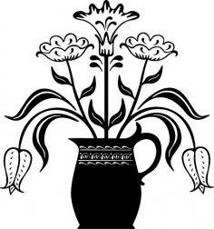 Flowerpot EPS File
