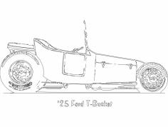 Vintage Car dxf File