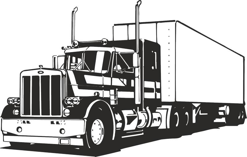 Truck Silhouette Vector CDR File