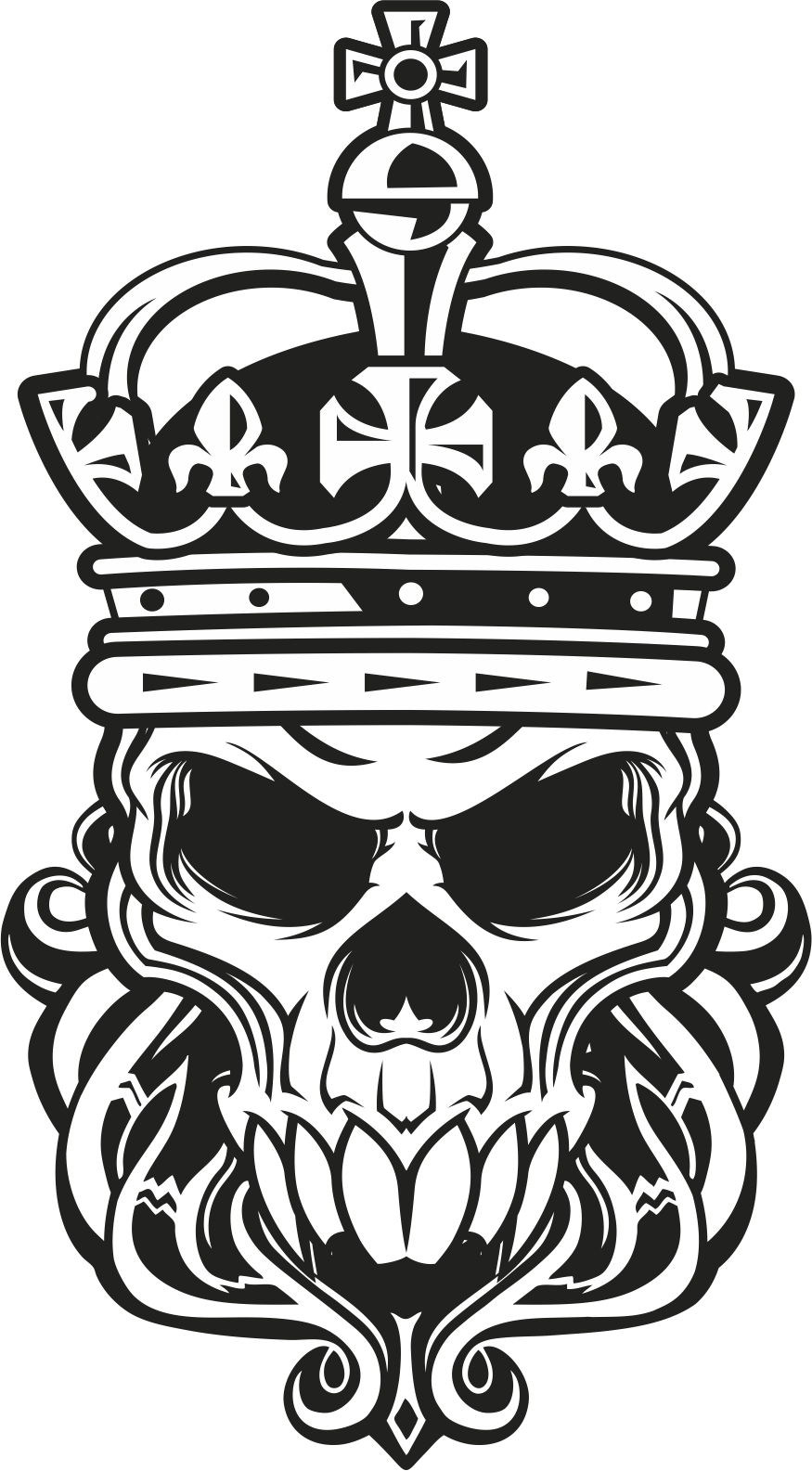 Skull King Vector Art Free Vector Cdr Download 3axis Co