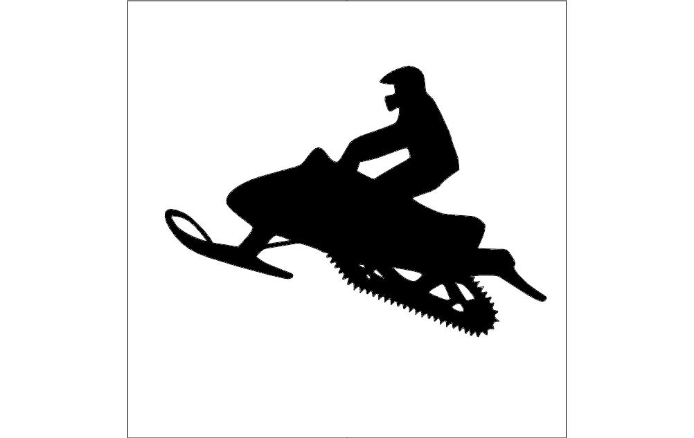 snowmobile silhouette dxf file free download