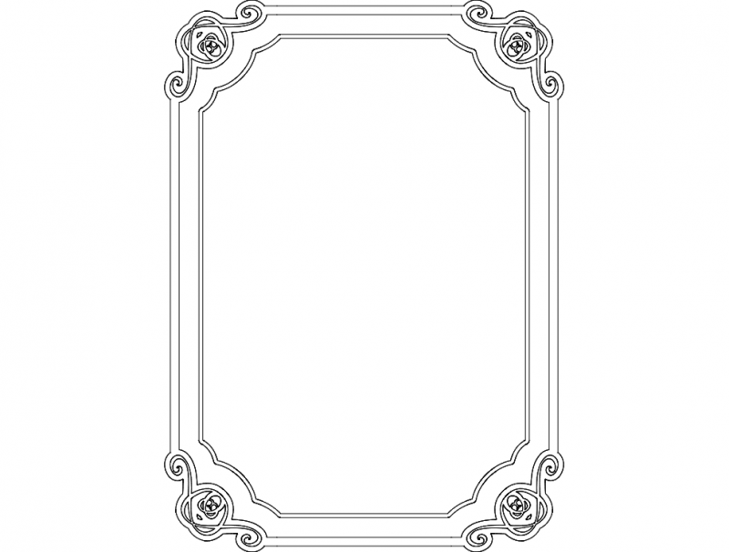 Cool Border Frame dxf File Free Download - 3Axis.co