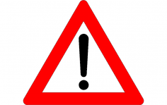 Exclamation Mark Road Sign dxf File