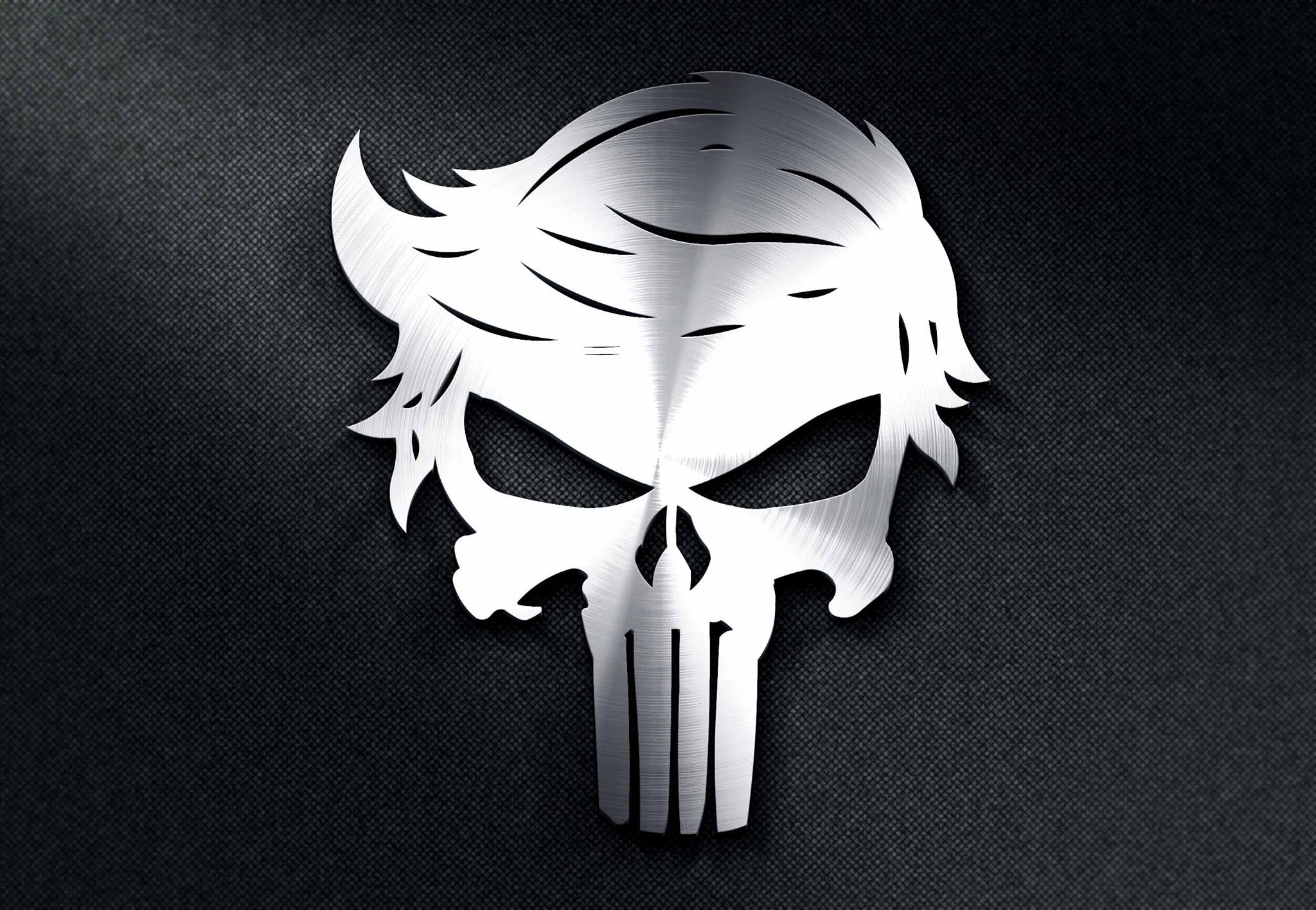 Trump Punisher Skull Dxf File Free Download 3axis Co