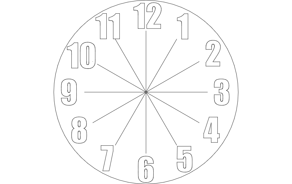 Clock Dxf File Free Download 3axis Co