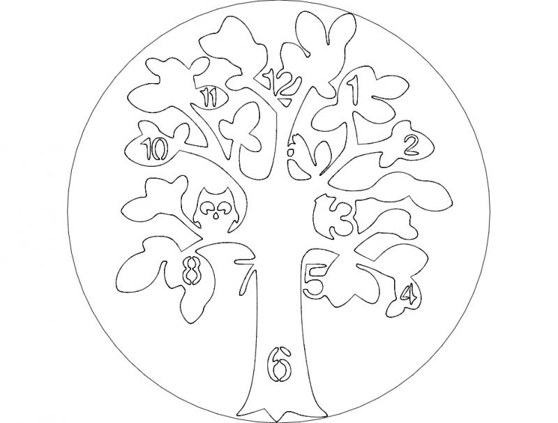 albero clock dxf File