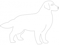 Golden retriever dxf File