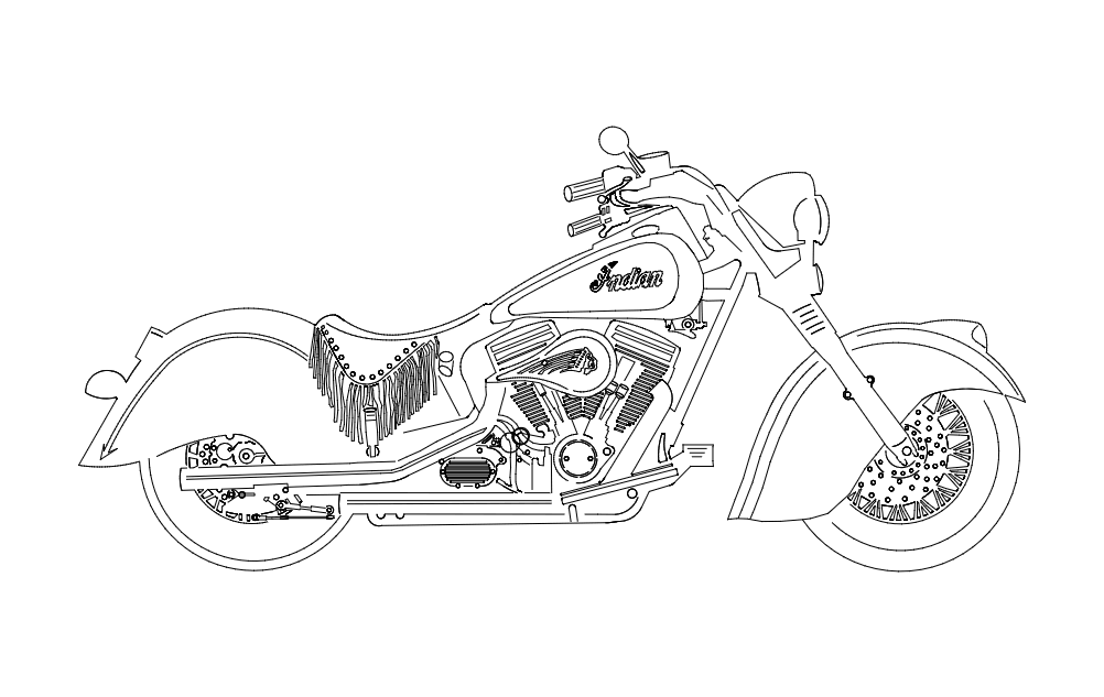 Indian Motorcycle Dxf File