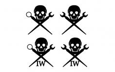 Ironworker Skull dxf File