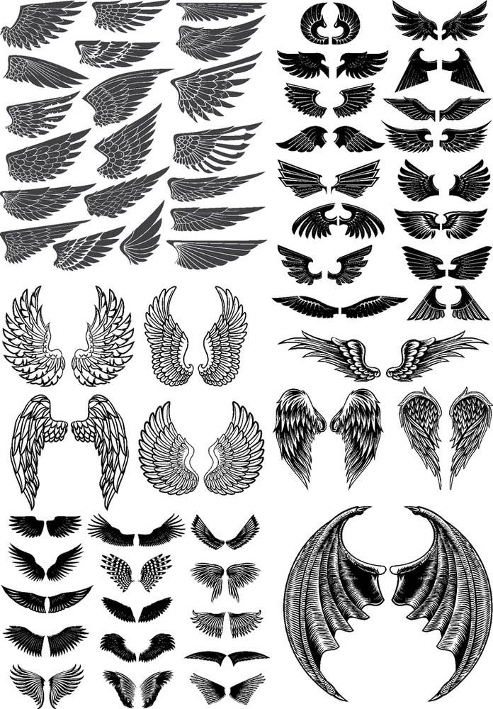 Wings Vector Pack Free Vector Cdr Download 3axis Co