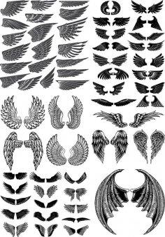 Wings Vector Pack CDR File