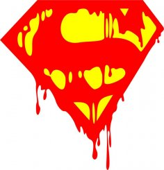 Logo Superman Bleeding Sticker dxf File