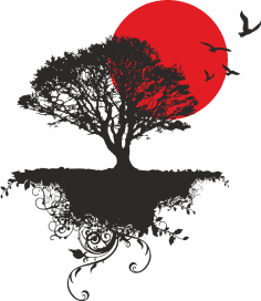 Japanese Tree Vector Art CDR File