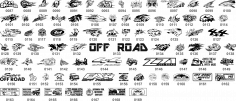 Off Road Stickers Collection CDR File