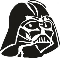 Darth Vader Stencil Vector CDR File