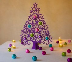 Laser Cut Christmas Decoration Christmas Tree Free Vector