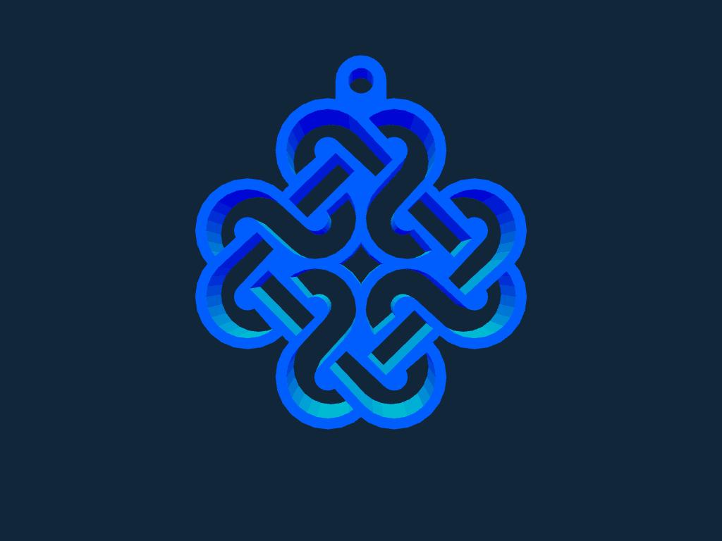 Mabinogi Celtic Emblem Key Chain Stl File Free Download