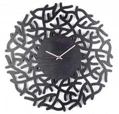 Laser Cut Modern Wall Clock Free Vector