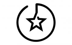 Branding Star dxf File