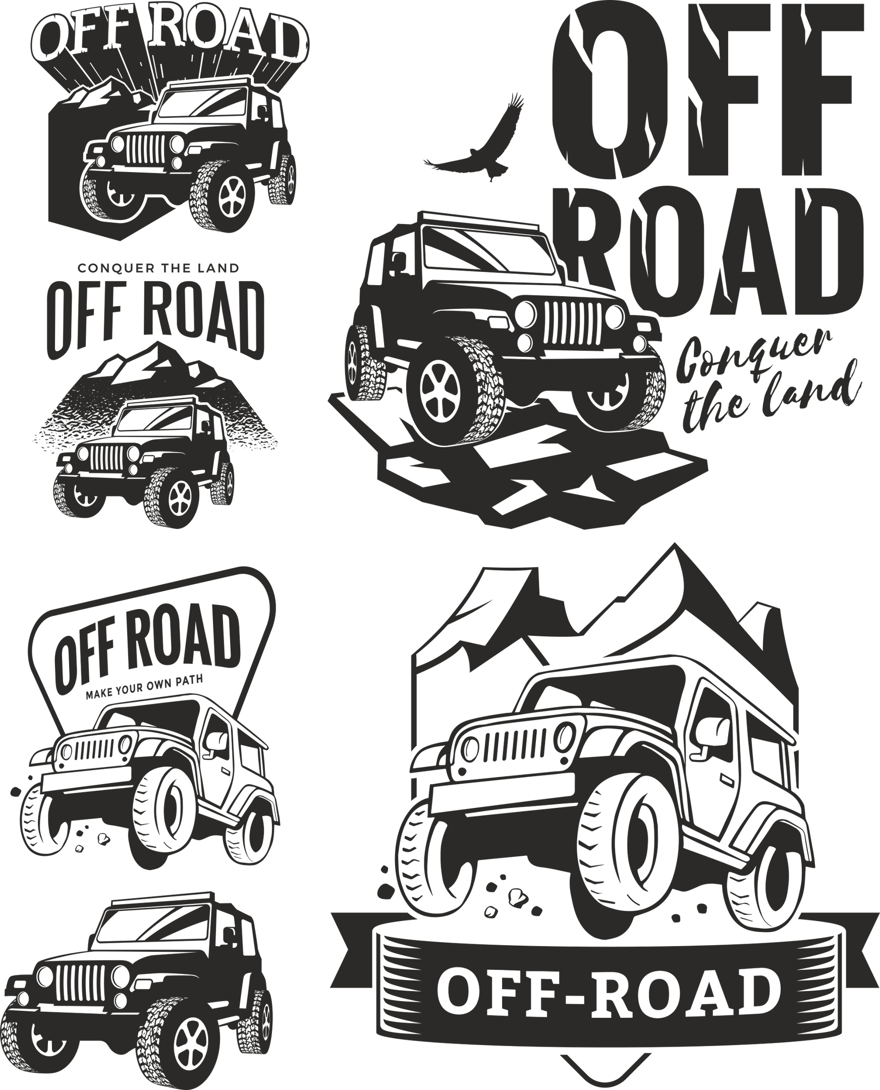 Off Road Decals Free Vector Cdr Download 3axis Co