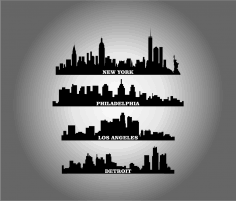 City Buildings dxf File