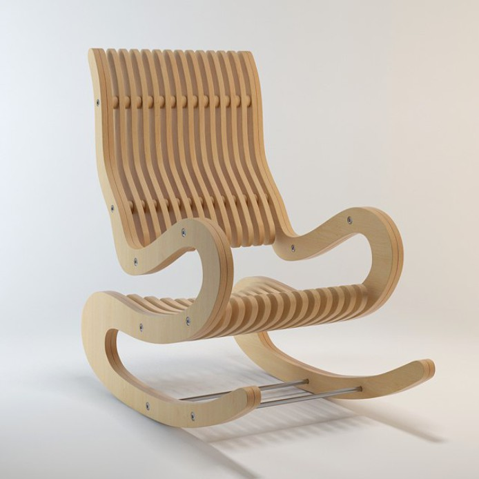 Rocking Chair Plywood 15 Mm Dxf File Free Download 3axis Co