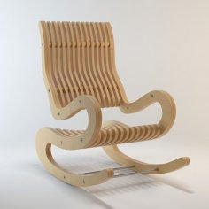 Rocking Chair Plywood 15 mm dxf File