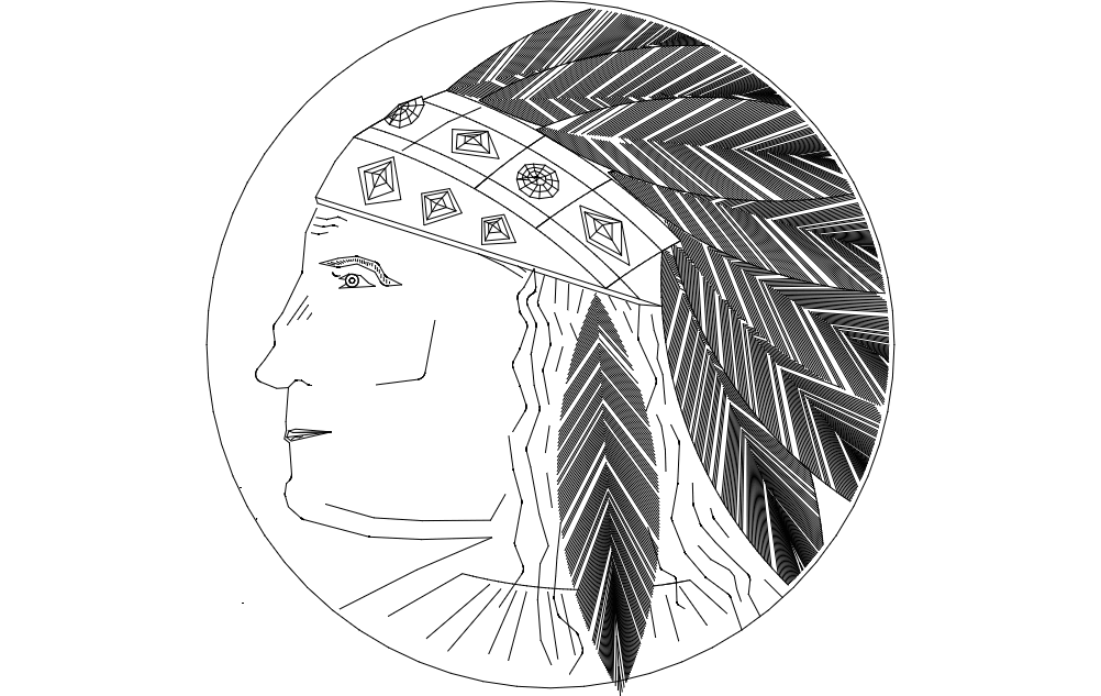 Native American Indian Headdress Dxf File Free Download