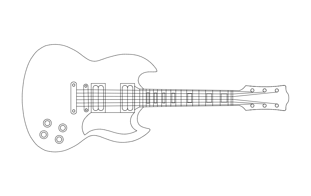 Guitar Dxf File Free Download 3axis Co