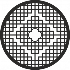 Round Grille Pattern Vector CDR File