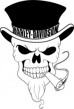 Harley Davidson Skull Vector CDR File