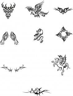 Tattoo Totem vector Set CDR File