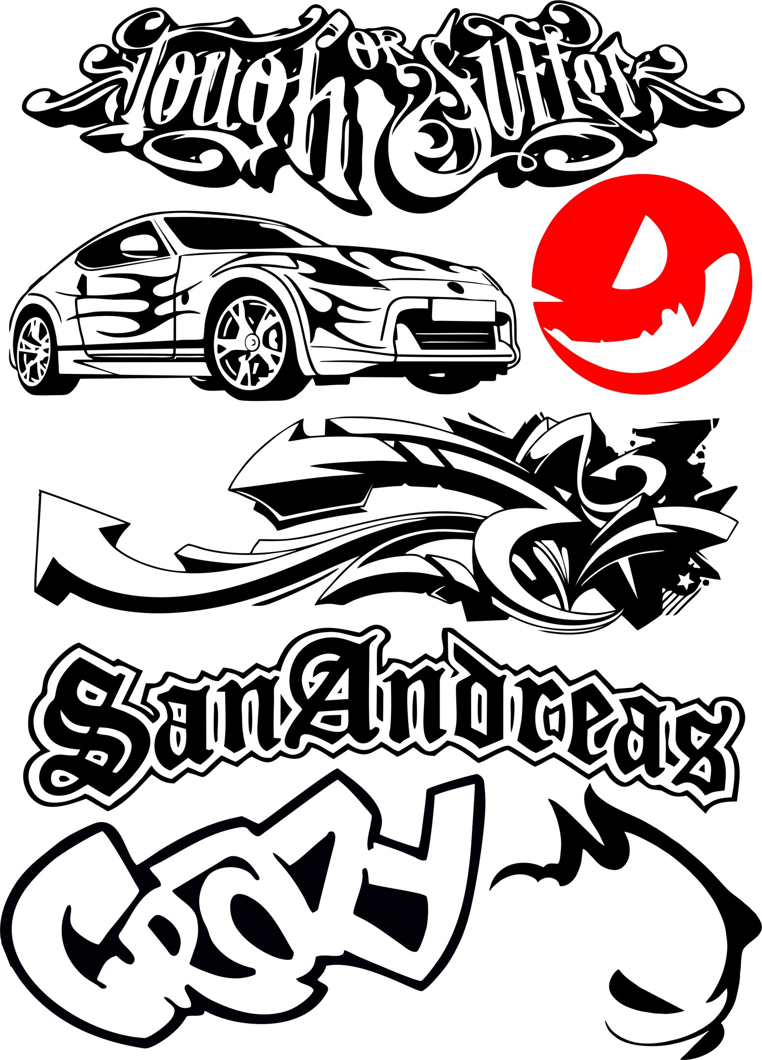 Car Bike Vehicle Graphics Vinyls Decals Vector Free Vector cdr