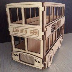 London Bus 3d Puzzle CDR File