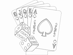 Cards dxf File