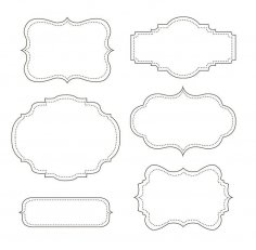 Mirror Frames (Candy buffet) dxf File